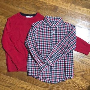 Children's Place sweater & button down -5/6
